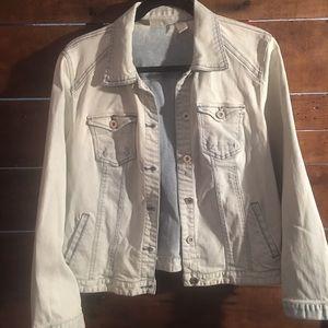 Chico's size 2 petite light denim jacket